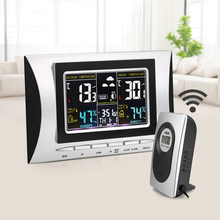 Wireless Weather Station Thermometer Time Alarm Outdoor Wireless Sensor Colorful Screen Temperature Humidity Monitor Weather For цены
