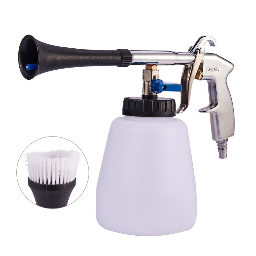 Car Washing Cleaning Gun Air Pulse Sprayer With Cleaning Brush Horn Head Cleaning Tools