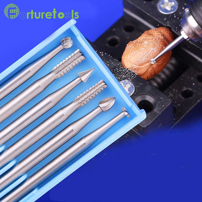 ABCDEF tipo 6 vnt. Drožimo įrankiai Router Bits dremel Rotary - Abrazyviniai įrankiai - Nuotrauka 1