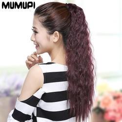 MUMUPI синтетический конский хвост наращивание волос Искусственный конский хвост парик леди чёрный; коричневый блондин хвост волос