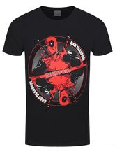 Deadpool Bad-Good Men's Black T-shirt 2018 New Fashion Men'S T-Shirts Short Sleeve Round Collar Short Sleeve Tee Shirts