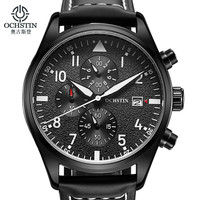 Brand OCHSTIN 2016 New Men S Wrist Watches Quartz Watch Men Real Three Dial Luminous Waterproof