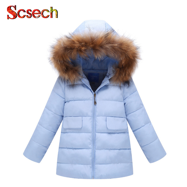 92710aaaad4f New Brand Baby girls boys outwear Fur Collar Winter Cotton Cloth ...