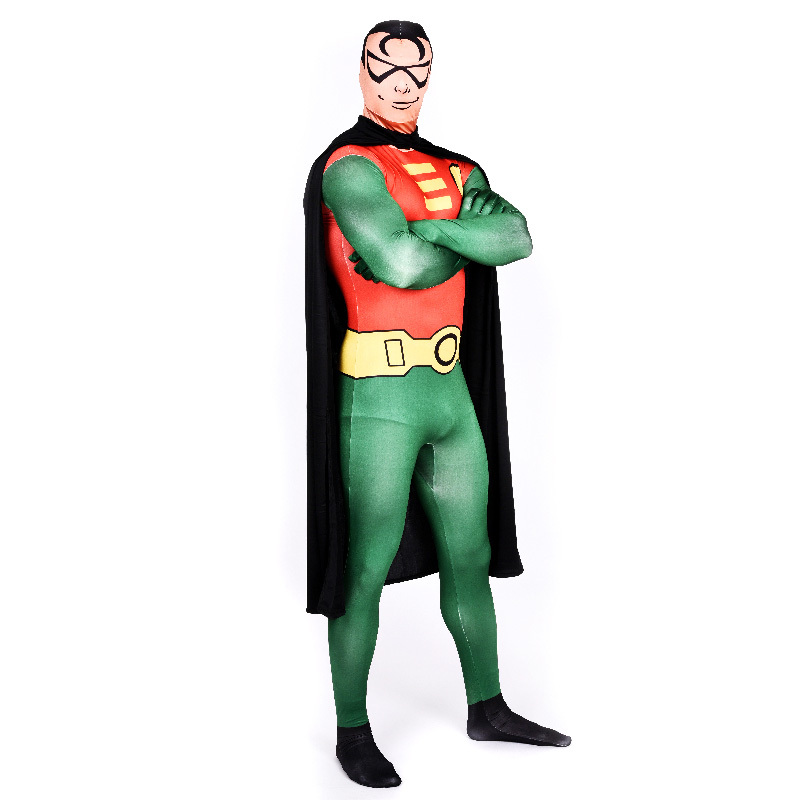 Batman u0026 Robin cosplay superhero full bodysuit zentai adult halloween costumes for men jumpsuits party Tights skin Robin costume-in Holidays Costumes from ...  sc 1 st  AliExpress.com & Batman u0026 Robin cosplay superhero full bodysuit zentai adult ...
