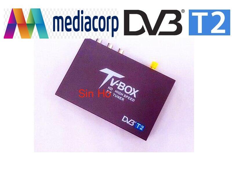 Offre spéciale singapour haute vitesse DVB-T2 H.264 MPEG4 Mobile numérique voiture DVB-T2 TV tuner dvb t2 voiture récepteur pour voiture dvb