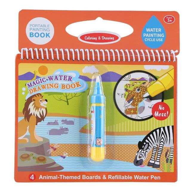 10 цветов Волшебная Вода Рисование книга цвет ing книга каракули с волшебной ручкой Рисунок игрушка доска для рисования Juguetes для детей мальчик образование