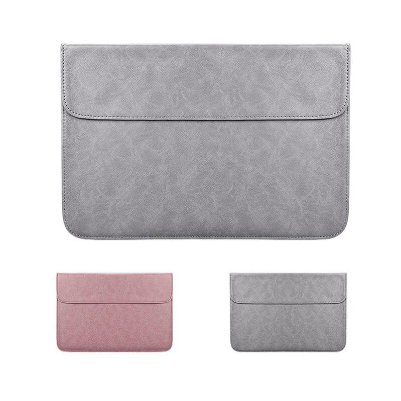 PU Laptop Sleeve Bag For Xiaomi font b Macbook b font Pro 13 Matte Magnetic Buckle