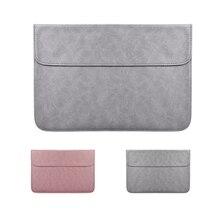 PU Laptop Sleeve Bag For Xiaomi Macbook Pro 13 Matte Magnetic Buckle Case Air 11 12 Retina 2018 New 15 Touch Bar Women Men Cover