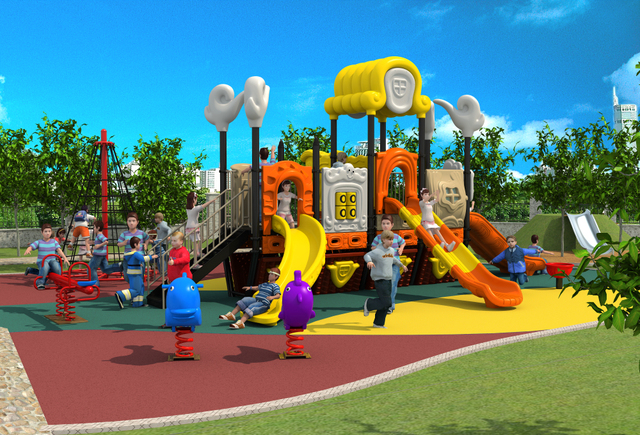 Nursery School Amut Outdoor Playground Park Entertainment Play Structure Equipment For Ylw 17934