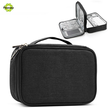 Single/Double Layer Travel Electronic Accessories Electric Cable Organizer Bag Portable Case SD cards Flash Drives Storage Bags