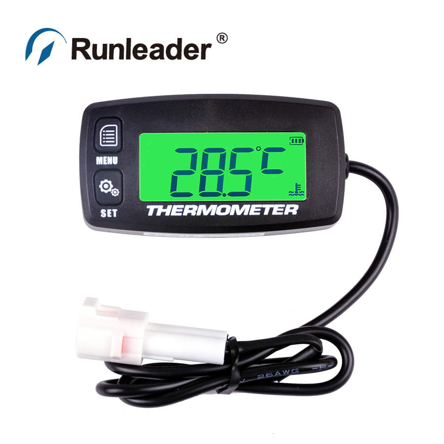 Runleader TM003 TS002 PT100 -20 +300 TEMP sensor thermometer temperature meter for motorcycle tractor generator cultivator ATV