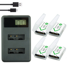 4PCS NP-BX1 NPBX1 NP BX1 Battery + LCD Dual USB Charger for Sony DSC-RX100 DSC-WX500 IV HX300 WX300 HDR-AS15 X3000R MV1 AS30V