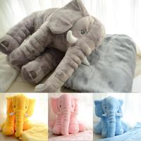 Ins Explosion products Elephant blankets with Pillow Handmade Crochet Soft Home Sofa Sleeping blanket gifts for baby
