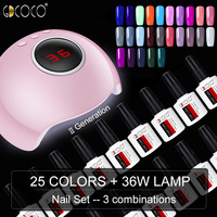 2019 New Arrival Professional 36W UV LED Nail Lamp Fast Dry GDCOCO Color Nail Gel Polish High Quality Soak Off Color Gel Varnish