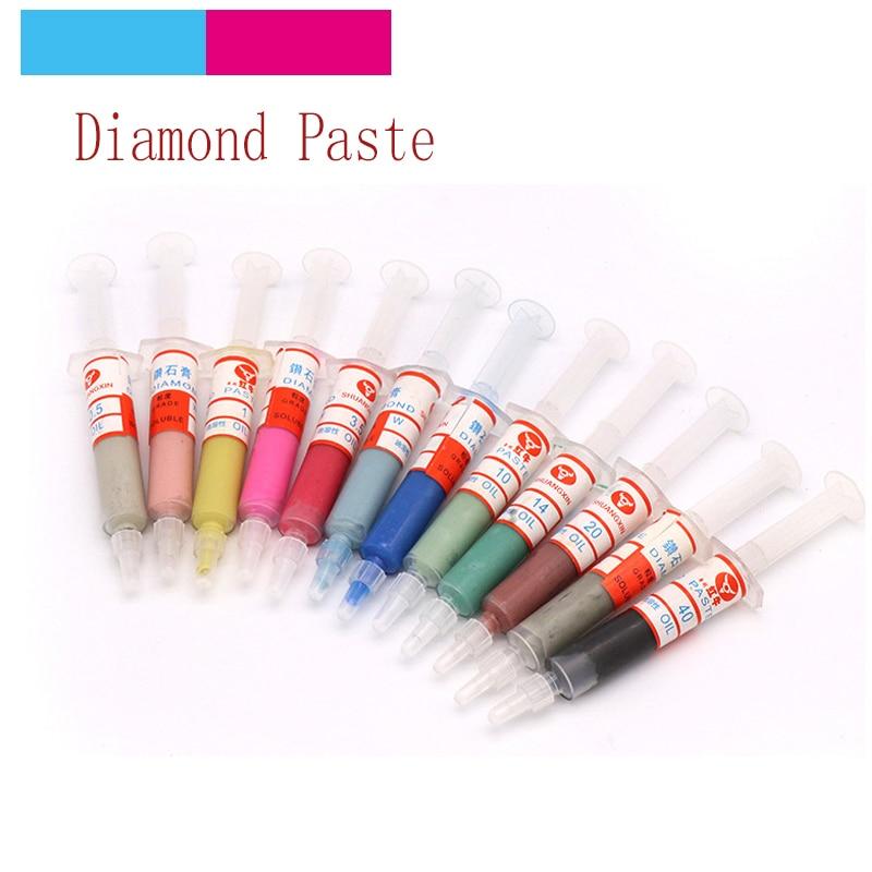 1pcs W0.5-W40 Diamond Abrasive Paste Needle Tube Grinding Polishing Paste Lapping Compound T