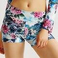 3D Chinese Painting Peony Print Women Summer Shorts 2016 Hot Sale Fitness Sporting Shorts High Waist Hot Pantalones Cortos Mujer