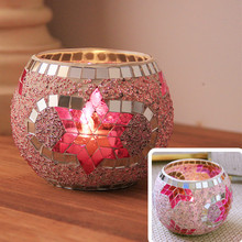 Handmade Mosaic Candle Holder