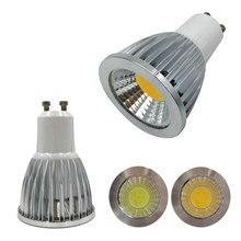 Free shipping 10pcs 3W 5W COB GU10 led spotlight dimmable GU10 led spot light 110V 220V gu10 led lamp warm white indoor lighting