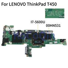 KoCoQin האם מחשב נייד עבור LENOVO ThinkPad T450 I7-5600U Mainboard AIVL0 NM-A251 00HN531(China)
