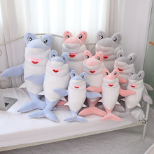 Hot 60/90cm Giant Shark Plush Shark Whale Stuffed Fish Ocean Animals Kawaii Doll Toys For Children Kids Cartoon Toy Baby's Gift недорого
