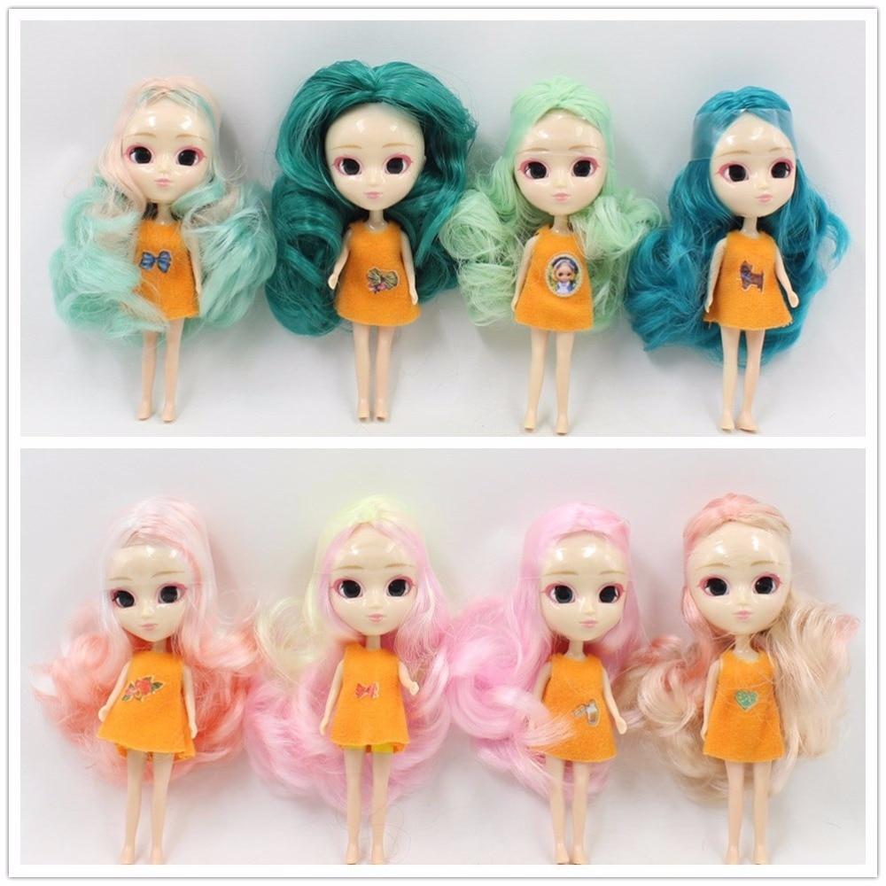 free shipping 10CM DIY Pullip blyth mini doll gift clothes is random кукла pullip gosomi isul