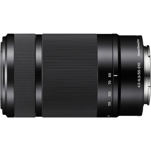 Sony 55-210 Lens E 55-210mm F/4.5-6.3 OSS E-Mount Lens (SEL55210) For Sony A5000 A5100 A6000 A6300 A6500 NEX6 NEX7 NEX5R NEX5T