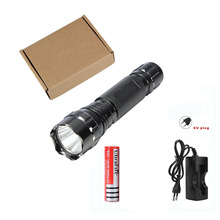 Classic Black XM-LT6 5 Mode 1000LM Flashlight Lighting Tactical Handheld Glare 1865 0 Camping Light