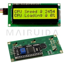LCD1602+I2C LCD 1602 module yellow-green screen IIC/I2C for arduino LCD1602 Adapter plate