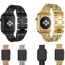 AIGRETTES style De Mode En Métal Bracelet En Acier Inoxydable Lien Bracelet bracelet Pour Apple bande de Montre 42mm 38mm pour iWatch série 1 2