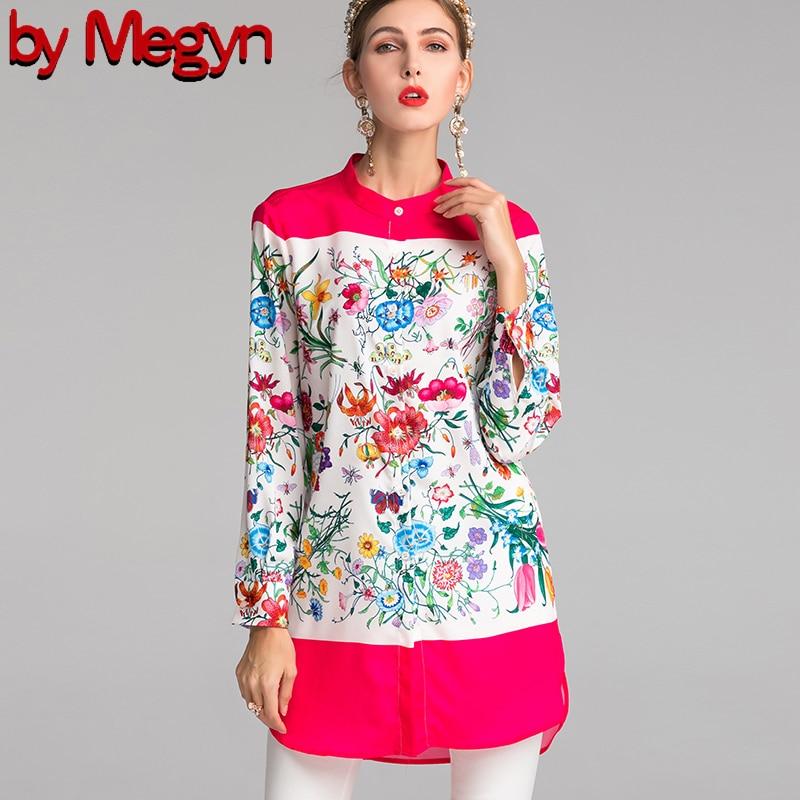 Women   Blouses   2019 Fashion Long stand Collar Office   Shirt   Chiffon   Blouse     Shirt   Casual Tops 3XL Plus Size X-long Blusas Femininas