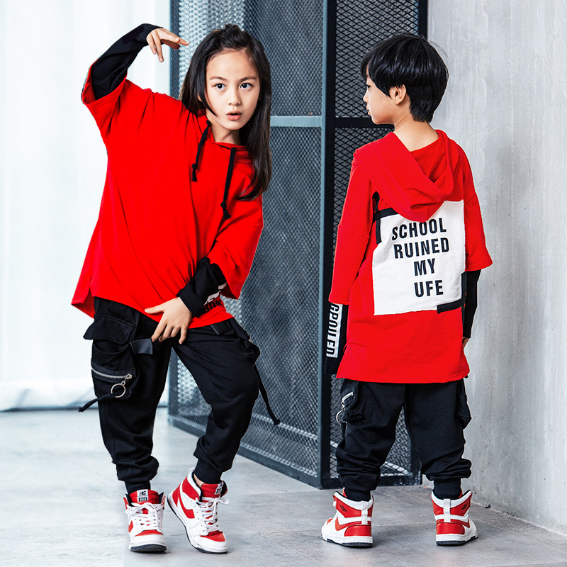 Stage Competition Korean Style Jazz Hiphop Dance Costume Hip Hop Clothes Children Pop Street Dance Wear Suit For Kids Boys Girls