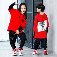 193464f08 Stage Competition Korean Style Jazz Hiphop Dance Costume Hip Hop Clothes  Children Pop Street Dance Wear Suit for Kids Boys Girls