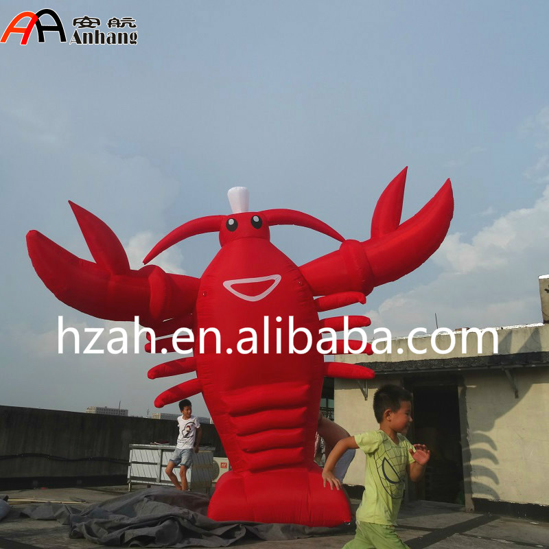 Giant Red Inflatable Standing Lobster Cartoon cartoon airplane style red
