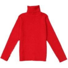 Funfeliz Autumn Winter Children Sweater Cotton Girls Turtleneck Sweater 2018 Baby Boy Knitted Pullover Kids Cardigans 12M-6Y цена в Москве и Питере