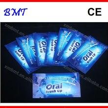 1000 шт/партия Профессиональный зубной очищающий зубная щетка до и после зубов глубокое Отбеливание чистка текстурированные для пальцев для зубов салфетки