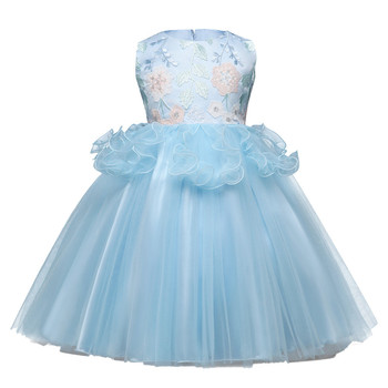 Summer childrens clothing Kids Baby Girls sleeveless Floral Print Bowknot Lace Princess Formal Dresses Kid's clothes #Zer