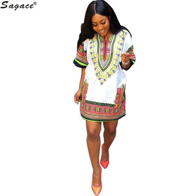 Новый модный Традиционная Одежда Африканских Headtie Платье Женщины Моды Этническая Печати Повседневная Прямо Мини-Платье vestidos халат Sep15