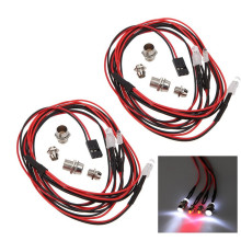 1pcs/lot 3V-7V LED Headlight JR connector 1/10 1/8 LED Light Set Headlight Taillight for RC Car Truck Tank HSP Tamiya SAKURA D3