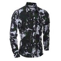 Coofandy Shirt Men Fashion Slim Fit Long Sleeve Gradient Color Demin Casual Blouse Shirts For Men