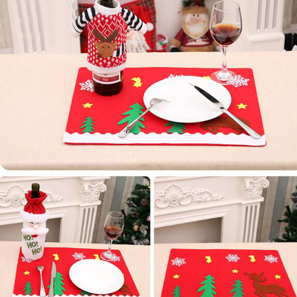 sanyi non woven christmas table mats insulated mats placemats napkins cloth decoration cover for kitchen holiday party home in party diy decorations from - Christmas Placemats And Napkins