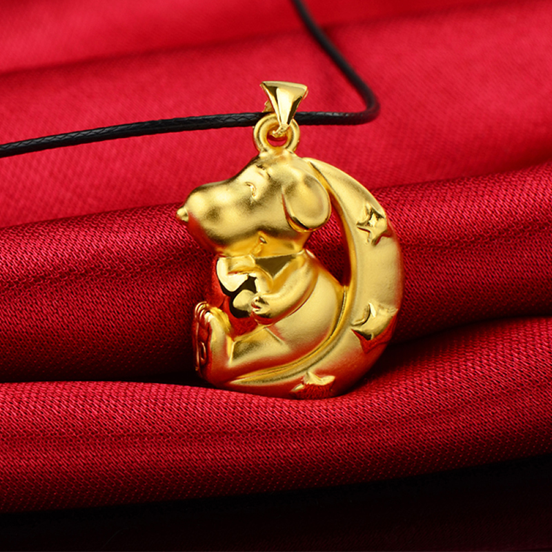 3D lovely dog pendant Authentic 24K Yellow Gold  Zodiac pendant 3.4g3D lovely dog pendant Authentic 24K Yellow Gold  Zodiac pendant 3.4g