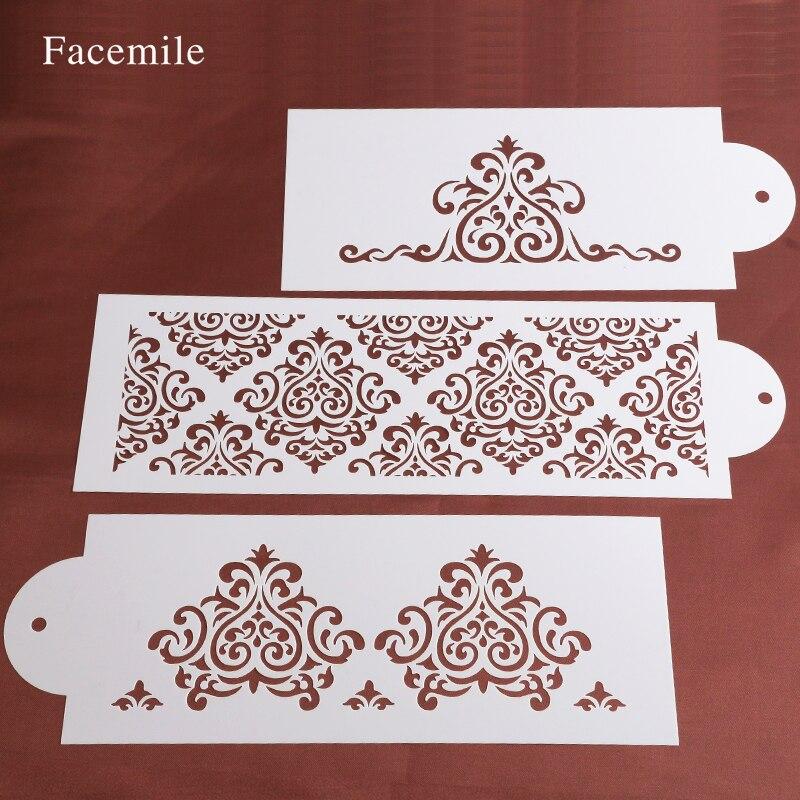 เค้กบิสกิตลายฉลุเครื่องมือเบเกอรี่ f ondant แม่พิมพ์มงกุฎกษัตริย์เจ้าหญิงราชินี Bakeware อบ F Ondant เค้กลายฉลุแม่แบบแม่พิมพ์ 52059