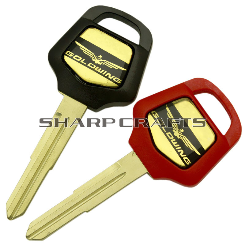 Black Red Motorcycle Blank Key Uncut Blade For HONDA GOLDWING GL1800 GL 1800 Gold Wing 2001 - 2011 2010 2009 2008 2007 2006