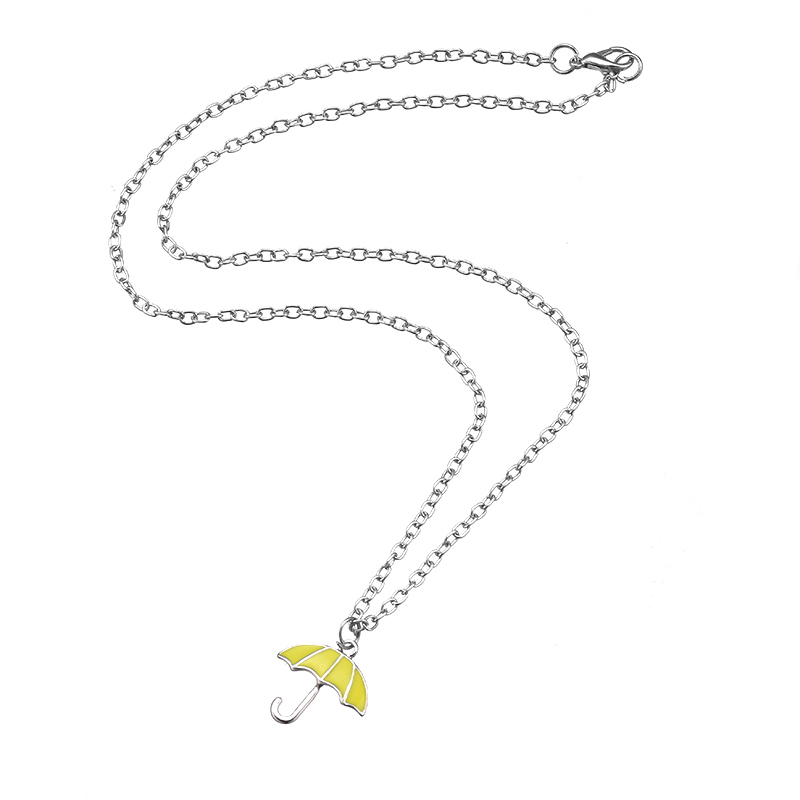 Hot Sale How I Met Your Mother Yellow Umbrella Necklace Pendant TV Series Party Cosplay Necklace for Women Charms Gift Jewelry