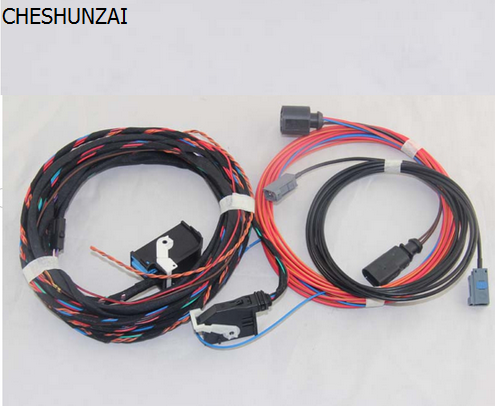 CHESHUNZAI For VW Emblem Flip Rear View Reversing Camera RVC Connect wiring harness For Golf 6