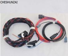 CHESHUNZAI  For VW Emblem Flip Rear View Reversing Camera RVC Connect wiring harness For Golf 6 MK6 VI Passat B7 CC 4B0 973 712