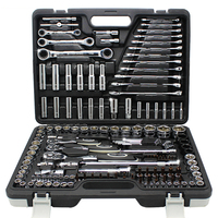150Piece Professional Auto Repair Tool Set Combination Package Socket Wrench with Most Useful Mechanics Tools