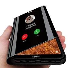 スマートケースxiaomiポコX3 nfc redmi注7ミラーフリップケースにkisomi redmi 7 7A Note7スタンドケース赤mi Note7 A7 Redmi7A