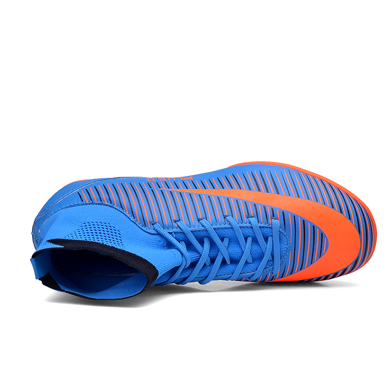 87c7fa9e5 Indoor turf soccer shoes mens original superfly cheap football ankle boots  with sock TF soccer cleats size 39 46 Free shipping-in Soccer Shoes from  Sports ...