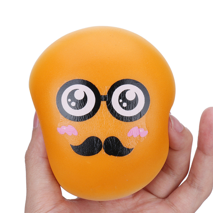 LeadingStar PU Slow Rising Toy Cute Steamed Bun Shape Squishy Toy Stress Relief Tools for Kids Adults Random Expression